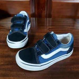 Vans Kid sneakers  Sz 10.5  blue black white